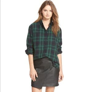 Madewell mini leather wrap skirt- size 6 NWT